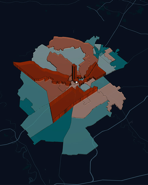 placeiq location data compares home and work trade area analysis for fast food brand
