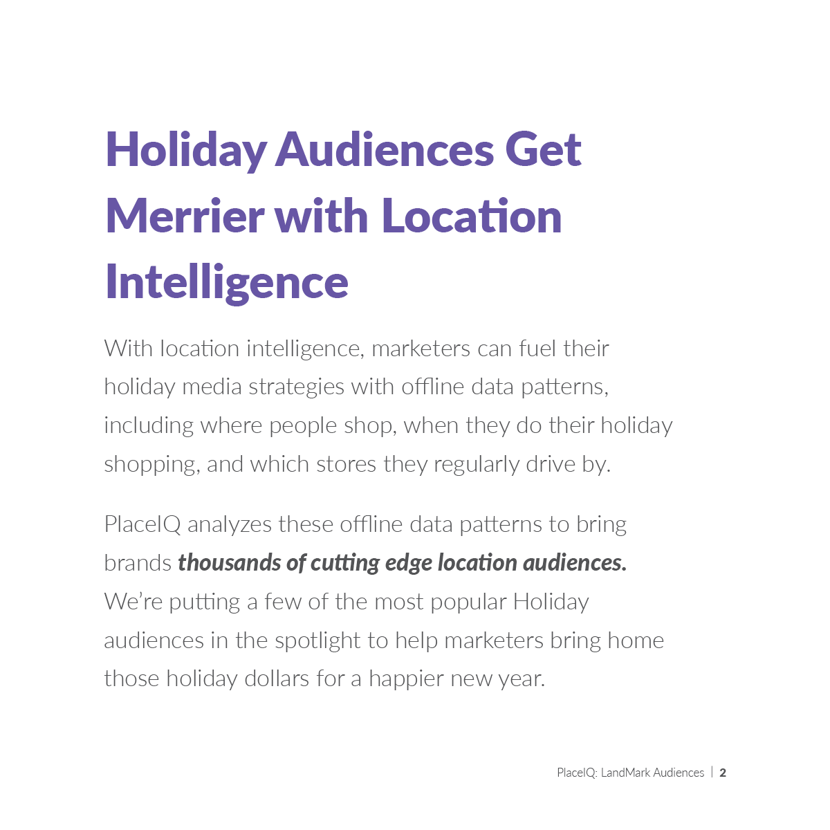 Holiday Audiences Get Merrier with Location Intelligence