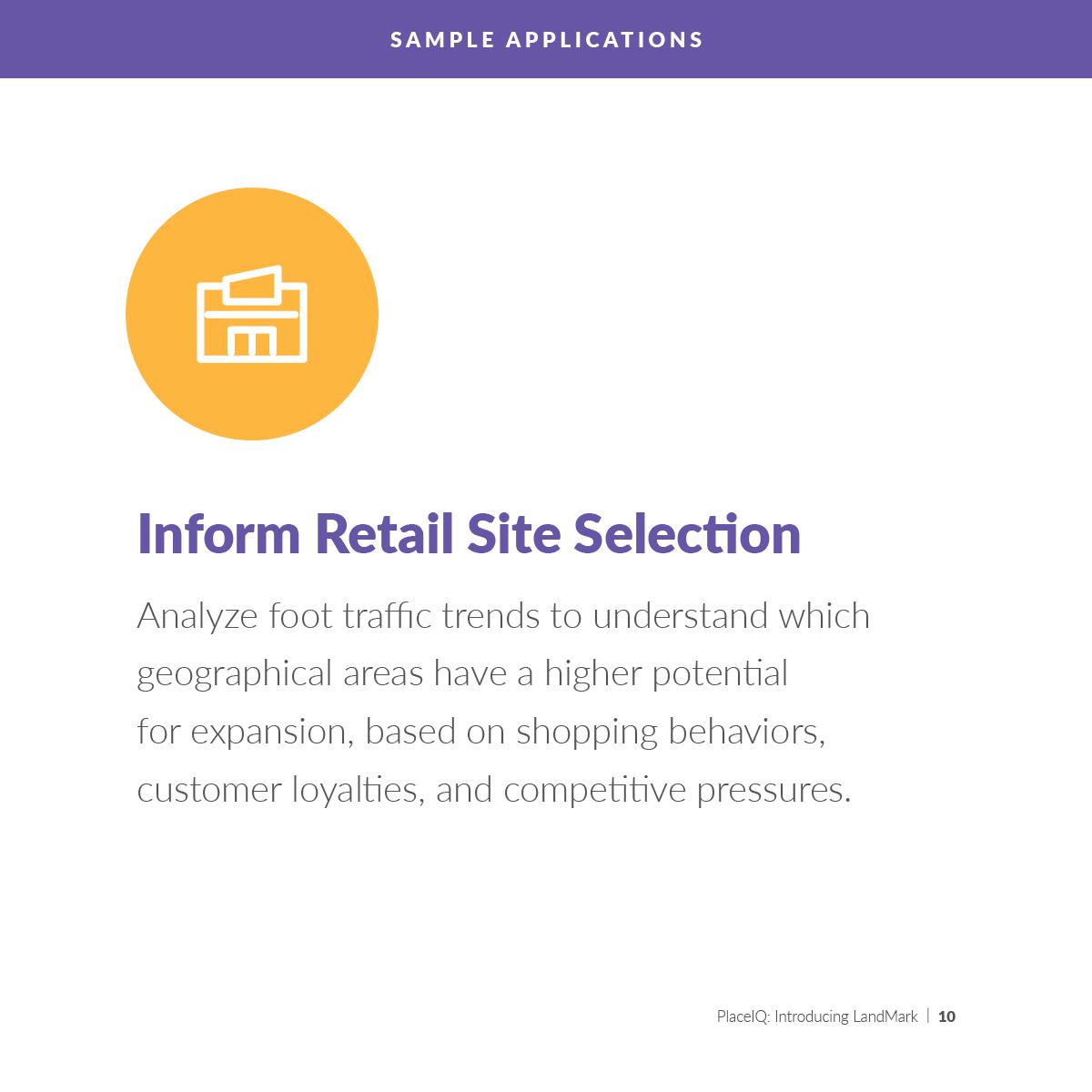 Inform Retail Site Selection