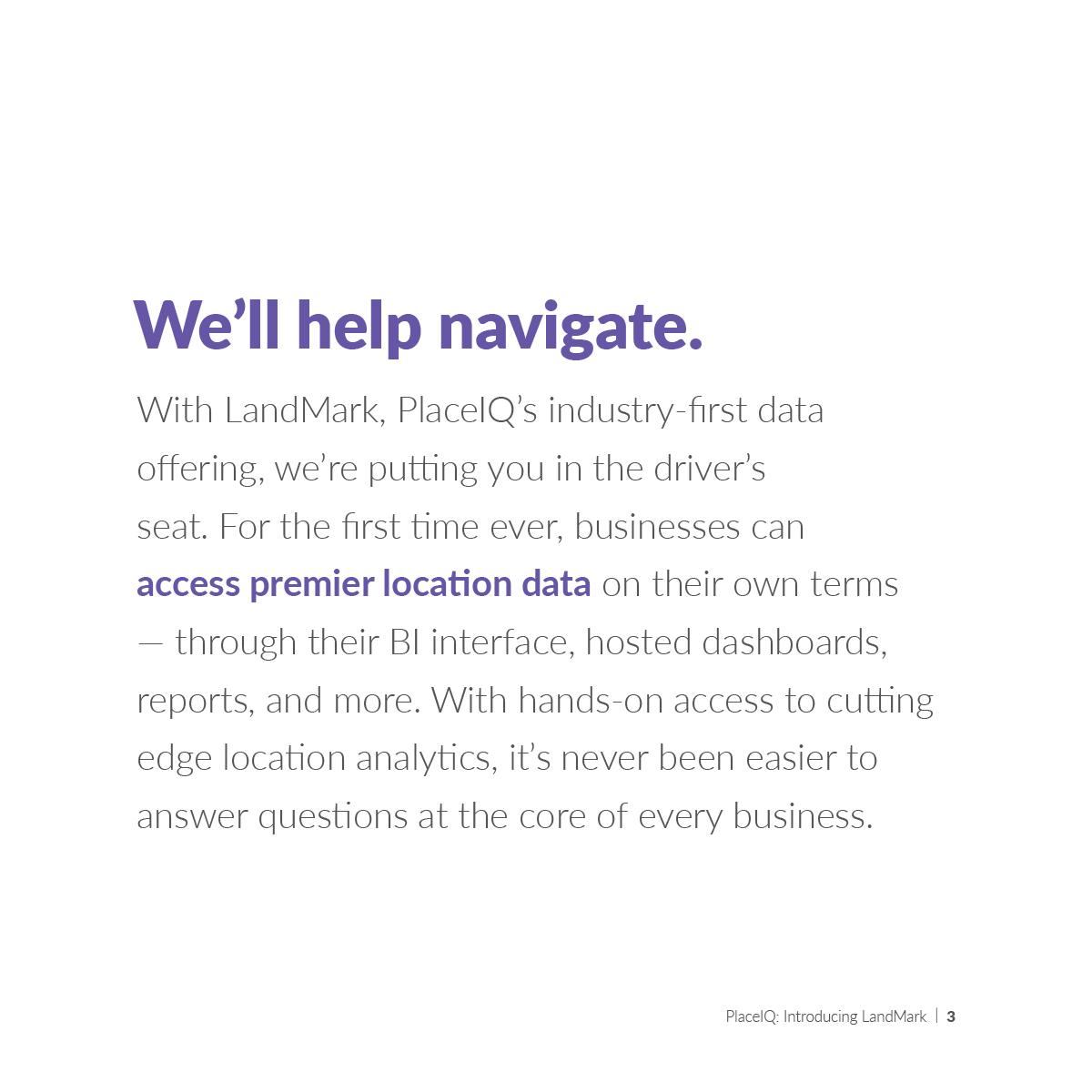 We'll help navigate.