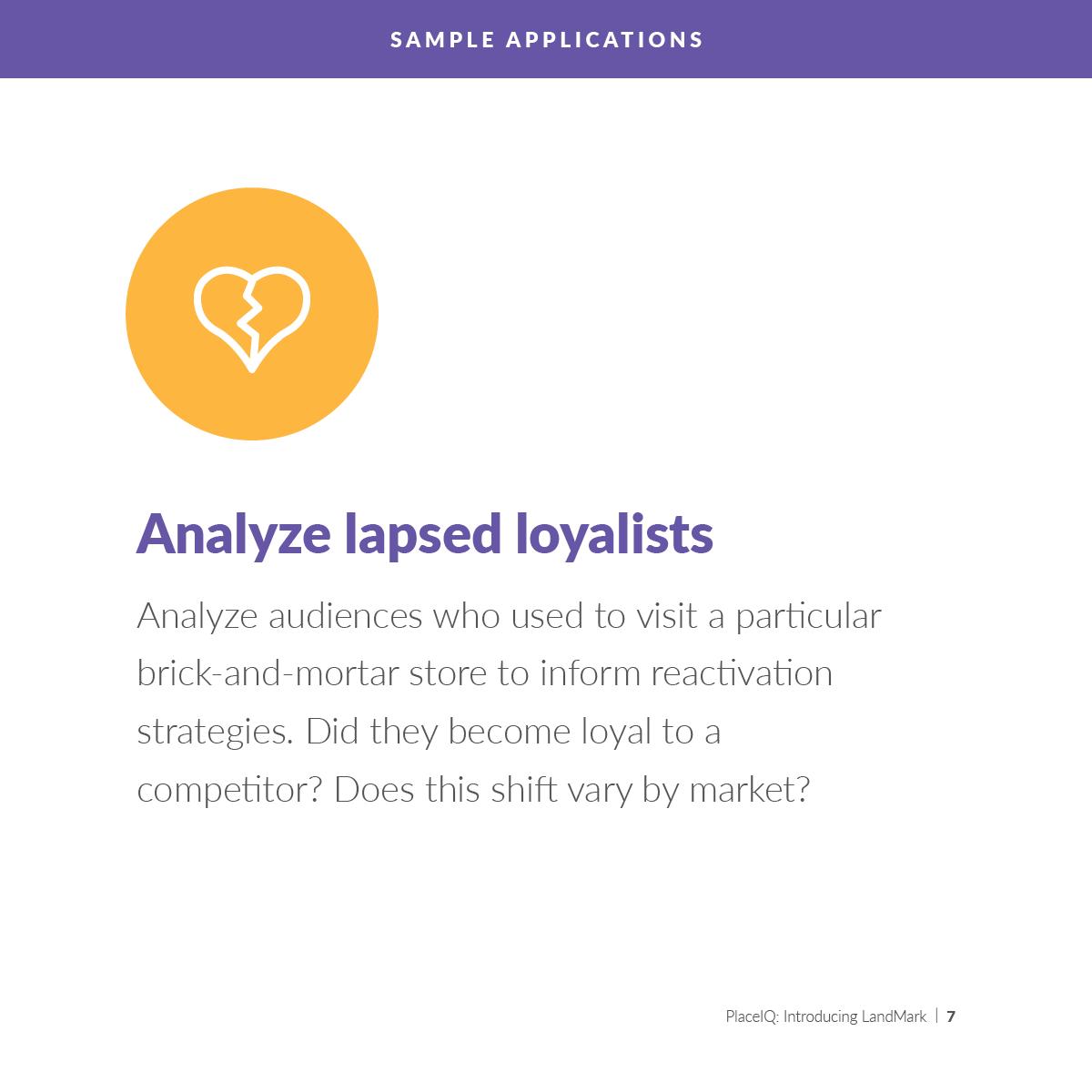 Analyze lapsed loyalists
