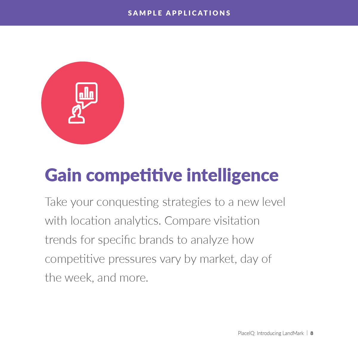 Gain competitive intelligence