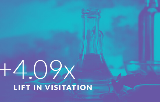 +4.09x Lift in Visitation