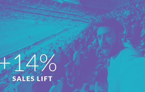 +14% Sales Lift